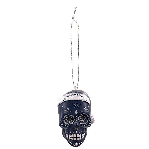 Dallas Cowboys Sugar Skull Ornament