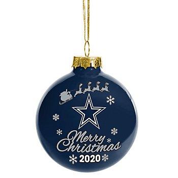 Dallas Cowboys 2020 Glass Ball Ornament