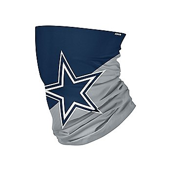 Dallas Cowboys Colorblock Big Logo Neck Gaiter Scarf Face Covering