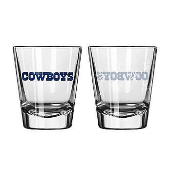 Dallas Cowboys 2 oz Satin Etch Shot Glass