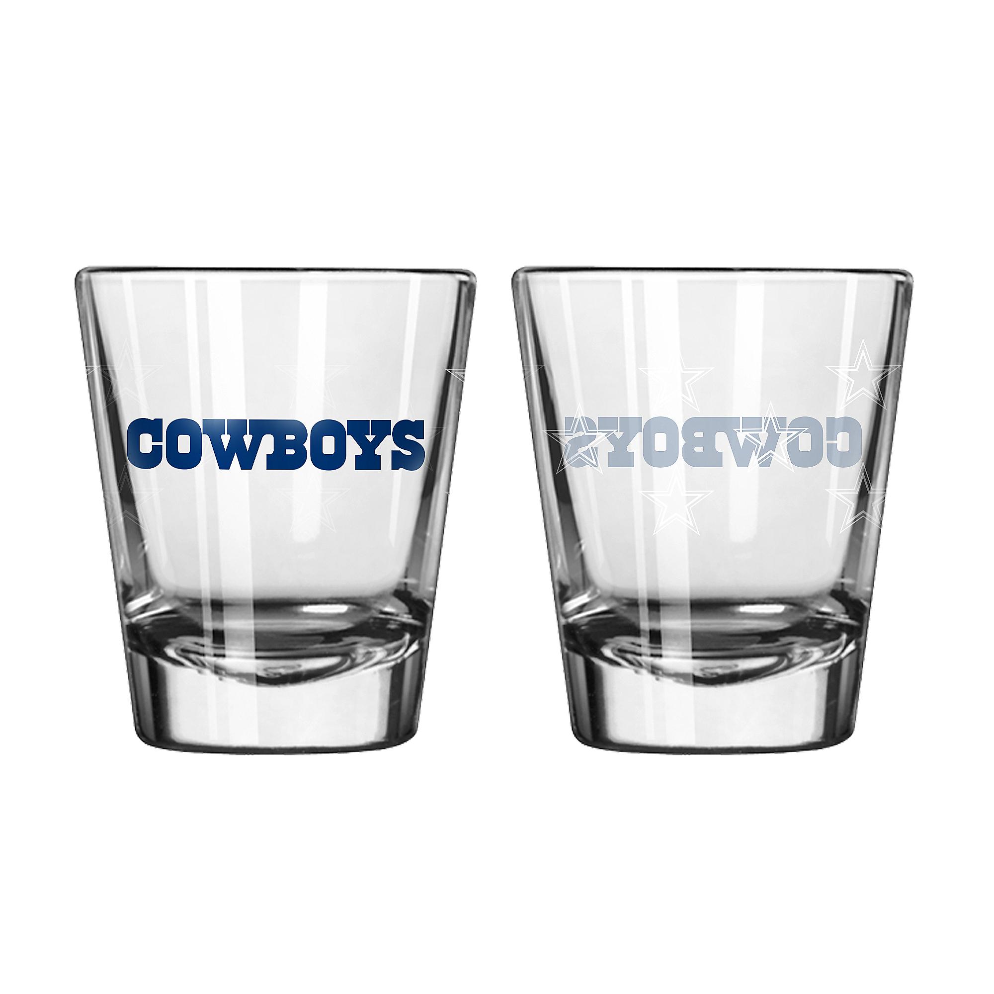 Dallas Cowboys 2 oz Satin Etch Shot Glass