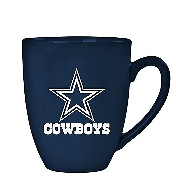 Dallas Cowboys 15 oz Laser Etched Ceramic Bistro Mug