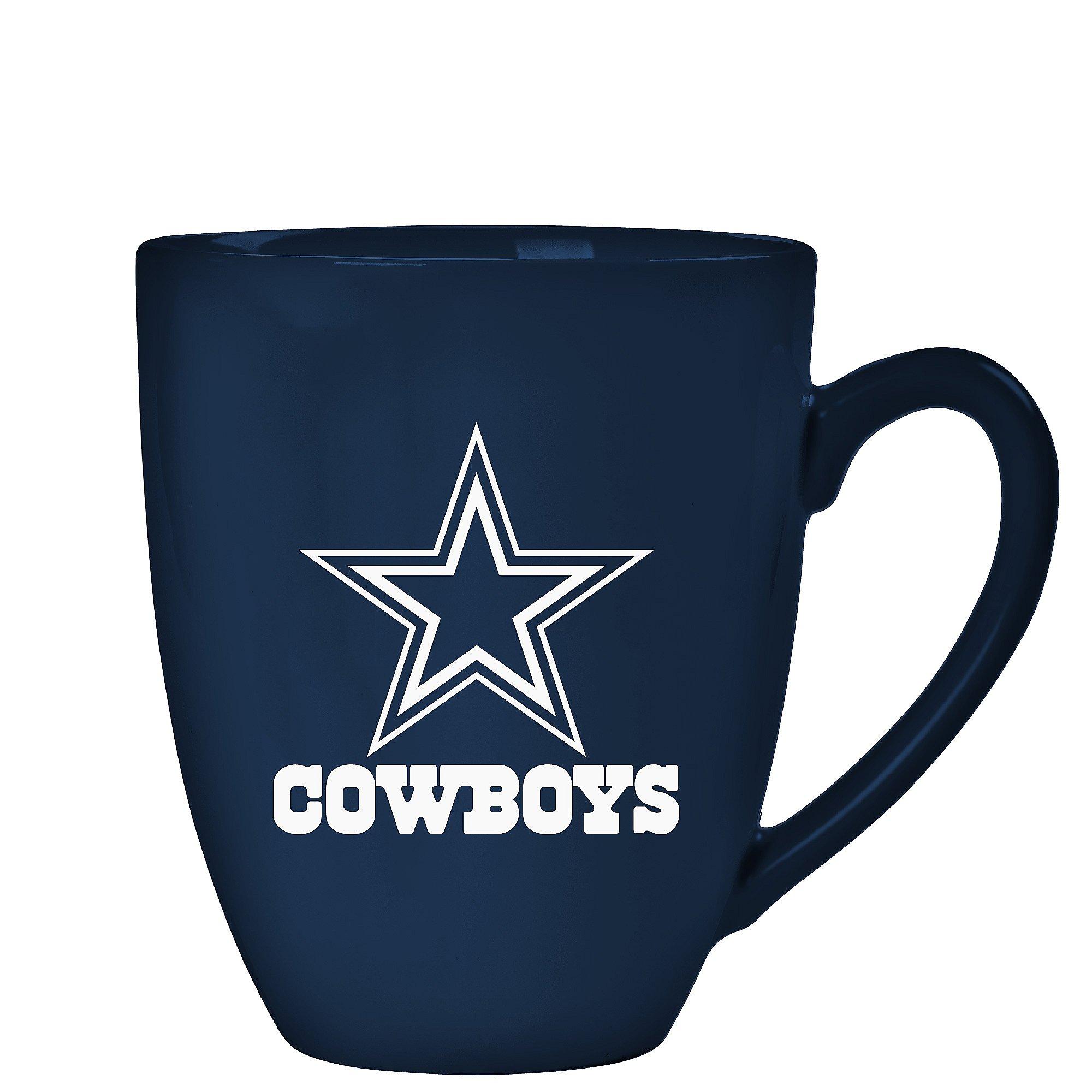 Dallas Cowboys 15 oz Laser Etched Ceramic Bistro Mug