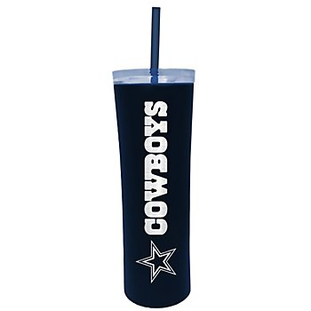 Dallas Cowboys 18 oz Matte Skinny Cup with Straw
