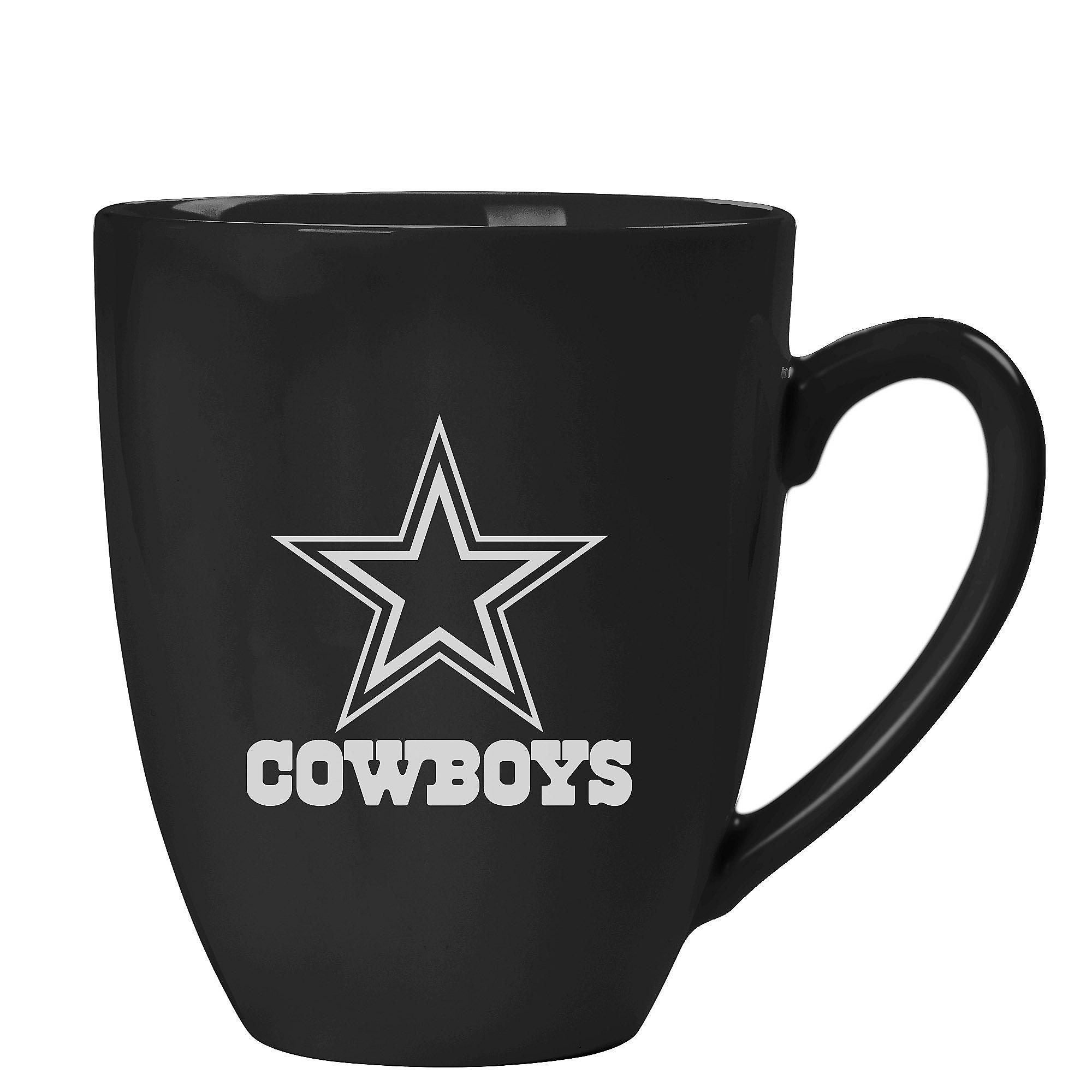 Dallas Cowboys 15 oz Black Ceramic Bistro Mug