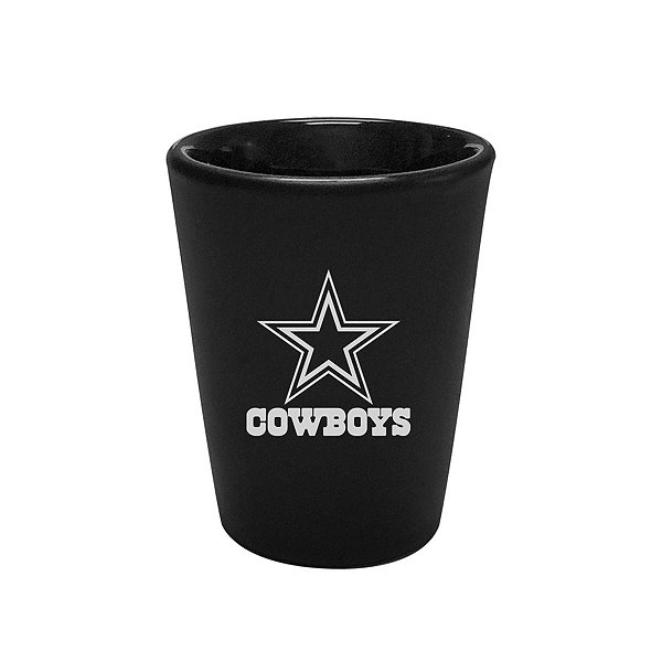 Dallas Cowboys 2 oz Black Ceramic Shot Glass
