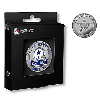 Dallas Cowboys 1960 Color Silver Coin