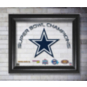 Dallas Cowboys 13x16 Super Bowl Champions Printed Glass Frame