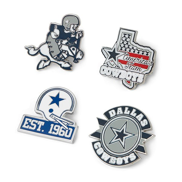 Dallas Cowboys Retro Joe 4-Piece Pin Set