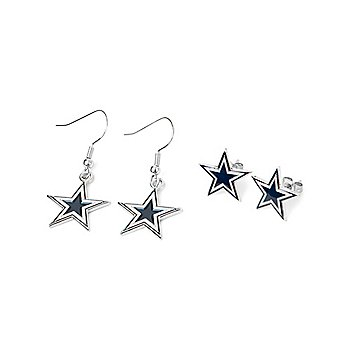Dallas Cowboys Post & Dangler Earring Set