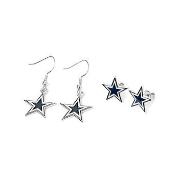 Dallas Cowboys Post & Dangler Earring Set