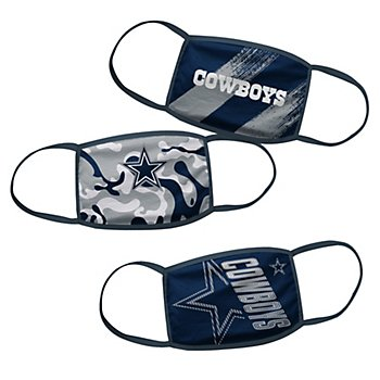 Dallas Cowboys Youth Face Coverings Set of 3
