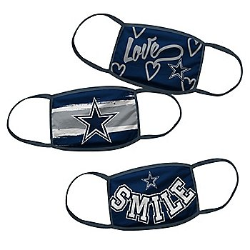 Dallas Cowboys Girls Face Coverings Set of 3