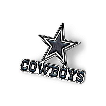 Dallas Cowboys Black and Metal Logo Pin