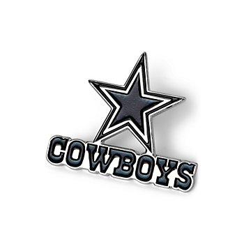 Dallas Cowboys Black and Metal Logo Pin