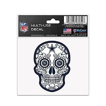 Dallas Cowboys 3x4 Sugar Skull Decal