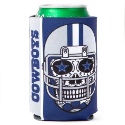 Dallas Cowboys Sugar Skull Can Cooler