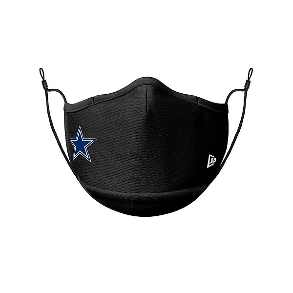 Dallas Cowboys New Era Adult Black On-Field Sideline Face Covering