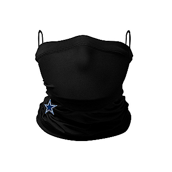 Dallas Cowboys New Era Adult Black On-Field Sideline Gaiter Face Covering