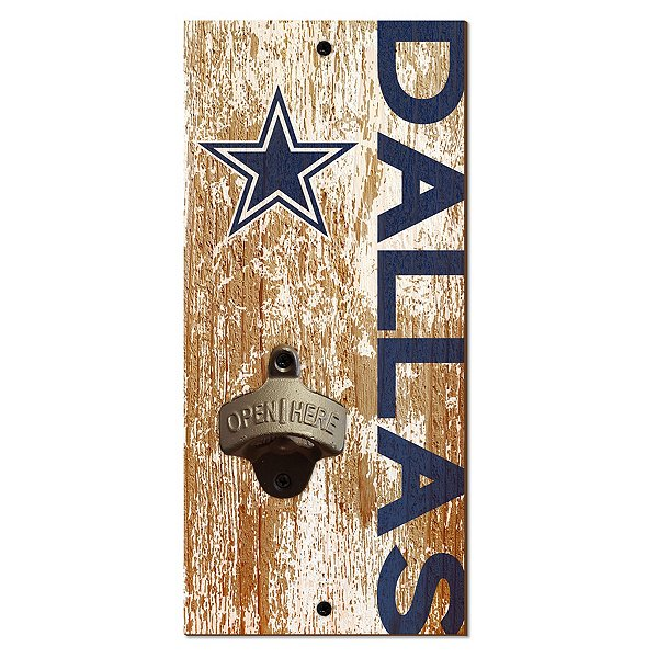 Dallas Cowboys Bottle Opener Sign