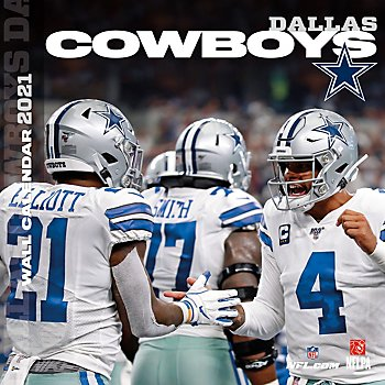 2021 12x12 Dallas Cowboys Team Wall Calendar