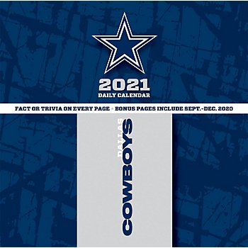 2021 Dallas Cowboys Team Box Wall Calendar