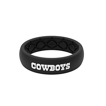 Dallas Cowboys Black Silicone Thin Ring