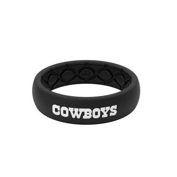 Dallas Cowboys Groove Life Black Silicone Thin Ring