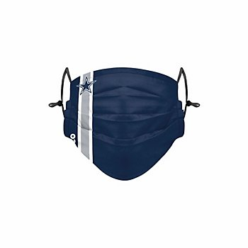 Dallas Cowboys Adult On-Field Sideline Stripe Adjustable Face Covering