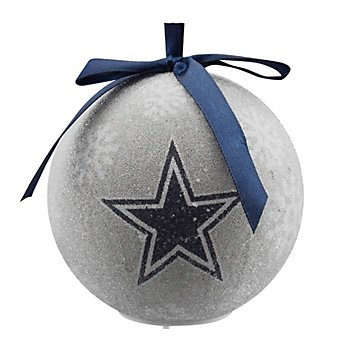 Dallas Cowboys White LED Ornament