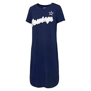 Dallas Cowboys Team LJ Womens Star T-Shirt Dress