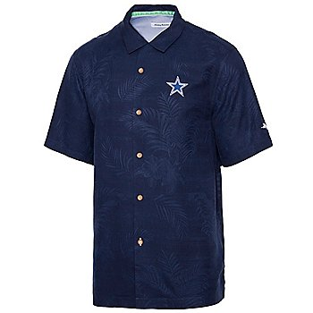 Dallas Cowboys Tommy Bahama Mens Roar Of The Crowd Button Down T-Shirt