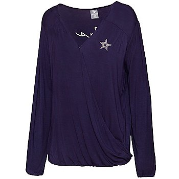 Dallas Cowboys Womens Meryl Cross Front Blouse