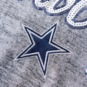 Dallas Cowboys Womens Lilly Metallic Scoop Neck Shirt