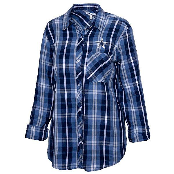 Dallas Cowboys WEAR By Erin Andrews Womens Established Flannel Shirt