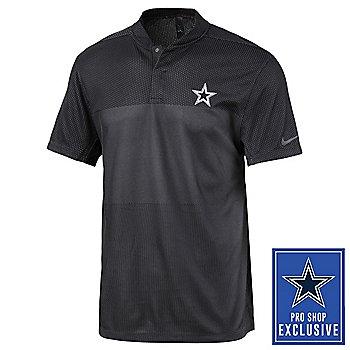 Dallas Cowboys Mens Nike Golf Tiger Woods Dri-FIT Blade Polo