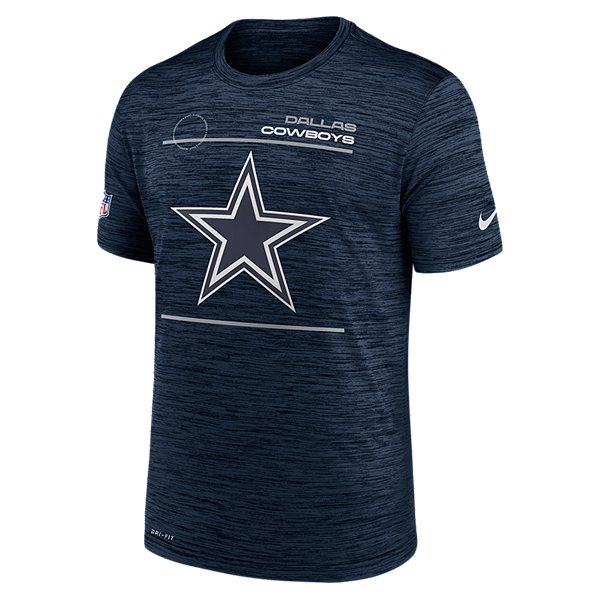 Dallas Cowboys Nike Mens Sideline Velocity Dri-FIT Short Sleeve Tee
