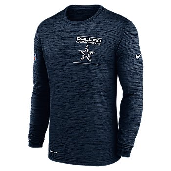 Dallas Cowboys Nike Mens Sideline Velocity Dri-FIT Long Sleeve Tee