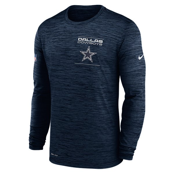 Dallas Cowboys Nike Mens Sideline Velocity Dri-FIT Long Sleeve Tee