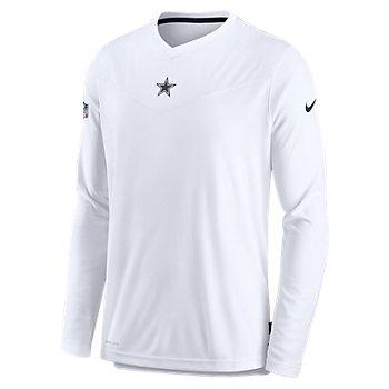 Dallas Cowboys Nike Mens Sideline Top Coach UV Long Sleeve Tee