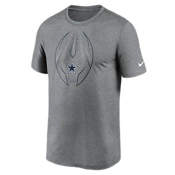 Dallas Cowboys Nike Mens Sideline Icon Dri-FIT Short Sleeve Tee