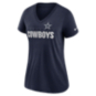 Dallas Cowboys Nike Womens Triblend Short Sleeve Tee