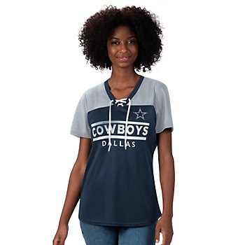 Dallas Cowboys Womens Enforcer Lace Up Tee