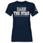 Dallas Cowboys Womens Earn The Star Glitter Tee