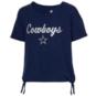 Dallas Cowboys Girls Love Tie Side Short Sleeve Tee