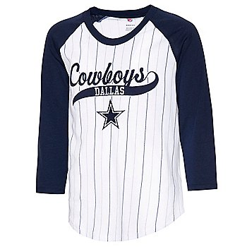 Dallas Cowboys Girls Wannabe a Winner 3/4 Raglan T-Shirt