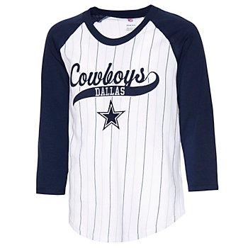 Dallas Cowboys Girls Wannabe a Winner 3/4 Raglan T-Shirt