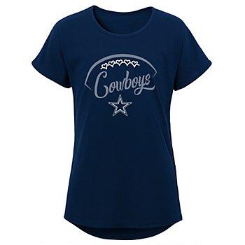 Dallas Cowboys Girls For The Love Dolman Tee