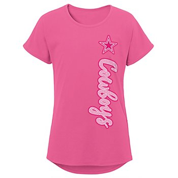 Dallas Cowboys Girls Chenille Champ Dolman Tee