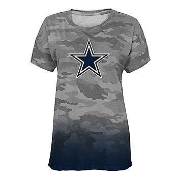 Dallas Cowboys Juniors Beth Camo Dip Dye Tee